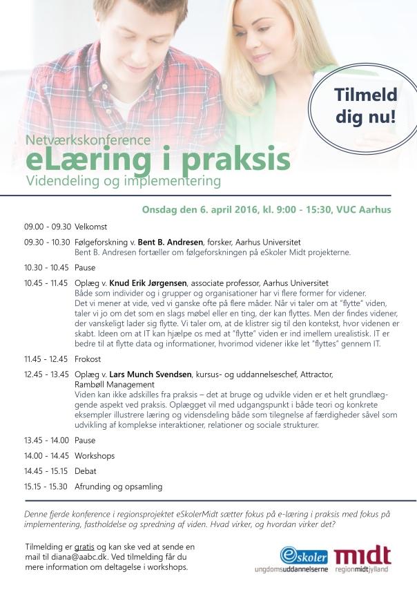 Program til netværkskonference - videndeling og implementering